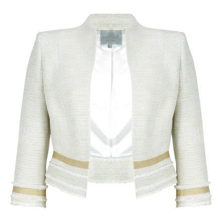 Tweed Cropped Jacket Cream
