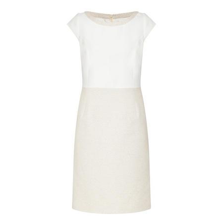 Textured Straight Dress White
