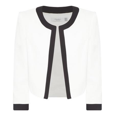 Trim Detail Jacket White