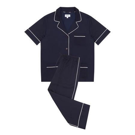 Walk The Line Pyjama Set Navy