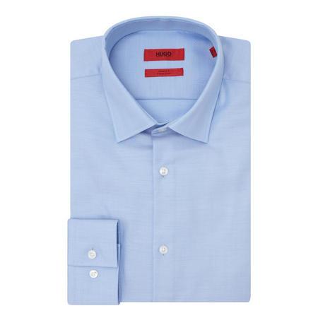 Jenno Herringbone Shirt Blue