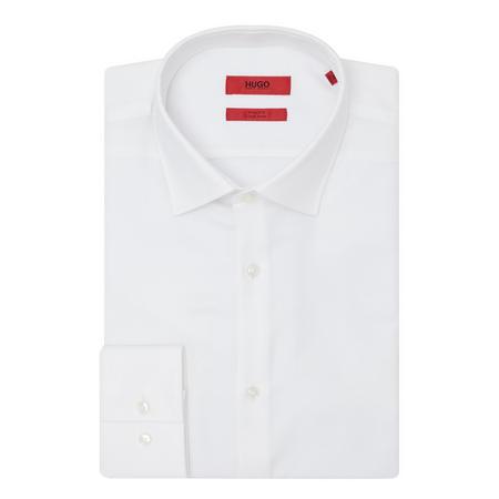 Jenno Herringbone Shirt White