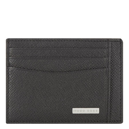 Signature Grained Card Holder Black