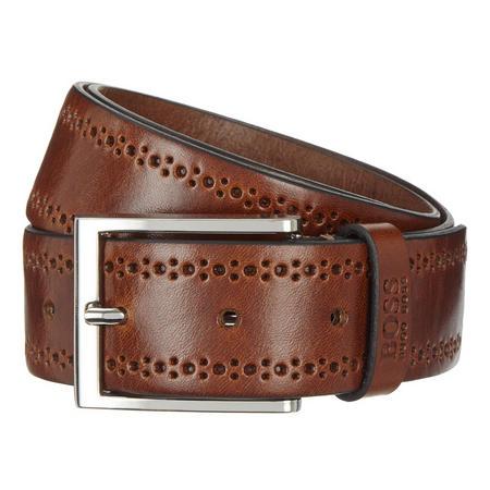 Cenol Leather Belt Brown