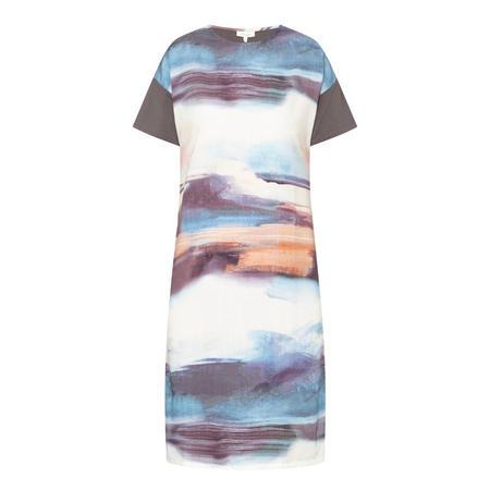 Sargasso Sea Print T-Shirt Dress Grey