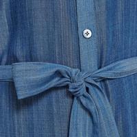 Chambray Shirt Dress Blue