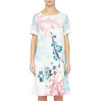 Coralium Print Shift Dress Multi