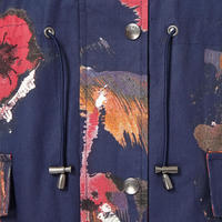 Chusho Printed Coat Navy