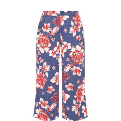 Floral Print Trousers Multicolour
