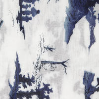 Sashiko Japanese Print Scarf White
