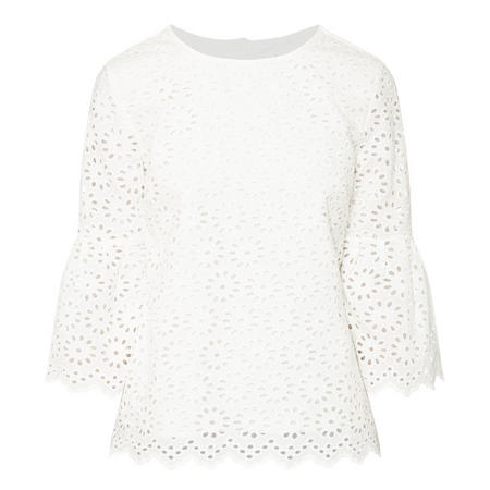 Irvette Broderie Anglaise Top White