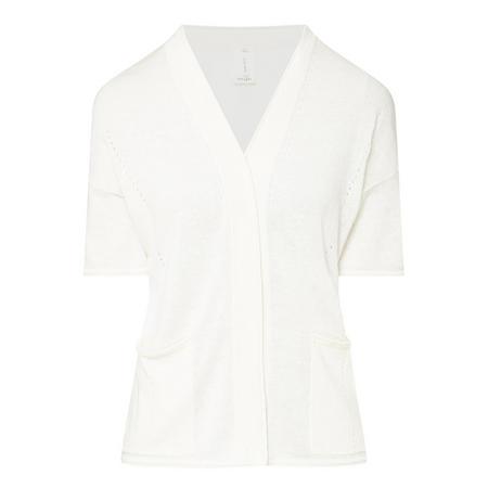 Short Sleeve Cardigan White