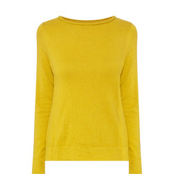 Round Neck Sweater Yellow
