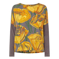 Long Sleeve Floral Top Multicolour