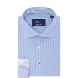Gingham Print Shirt Blue