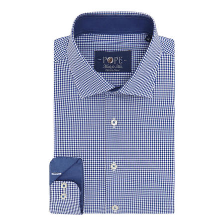 Gingham Print Shirt Blue