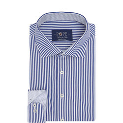 Bengal Stripe Print Shirt Blue