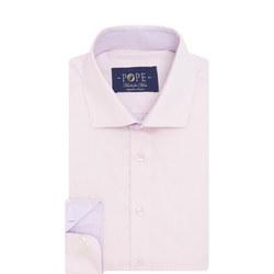 Herringbone Formal Shirt Pink