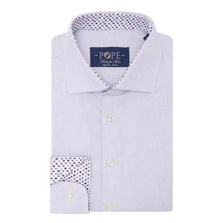 Textured Trim Detail Formal Shirt Purple