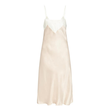 Contrast Panel Chemise Nude