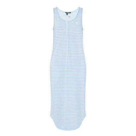 Stripe Ballet Tank Night Dress Blue