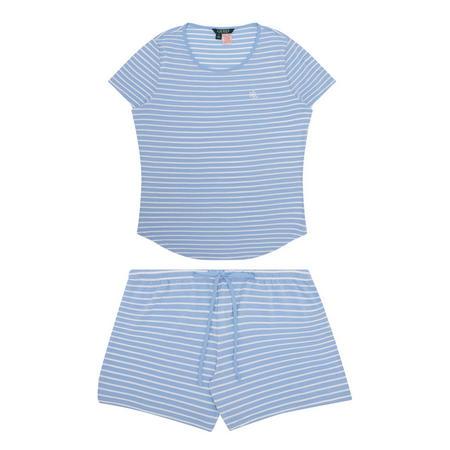 Stripe Short Pyjama Set Blue