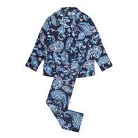 Paisley Print Pyjamas Navy