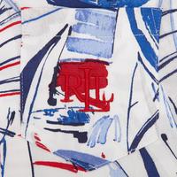 Boat Print Pyjamas White