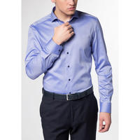 Textured Weave Formal Shirt Blue