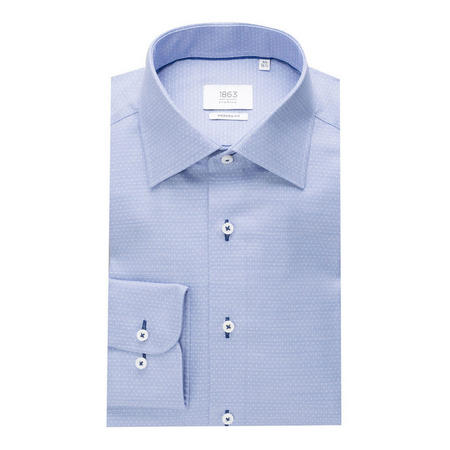 1863 Dot Pattern Formal Shirt Blue