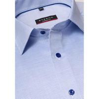 Textured Modern Fit Formal Shirt Blue