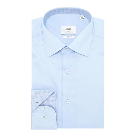1863 Patterned Trim Formal Shirt Blue