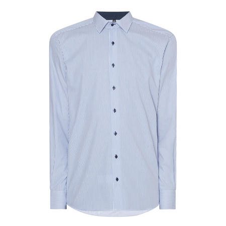 Stripe Modern Fit Formal Shirt Blue