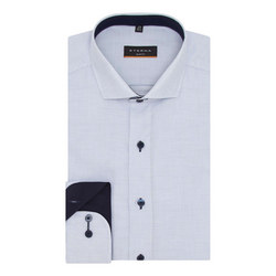 Textured Grid Pattern Formal Shirt