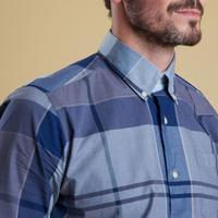 Enlarged Check Pattern Shirt Navy