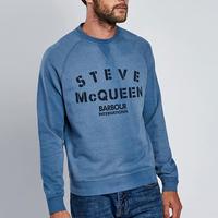 Steve McQueen Stencil Sweater Blue