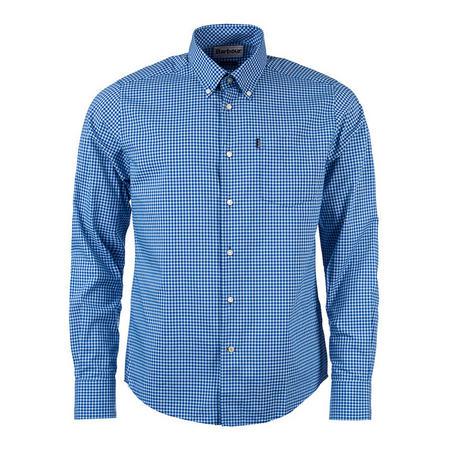 Leonard Slim Fit Gingham Shirt Blue