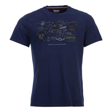 Mechanical Crew Neck T-Shirt Blue