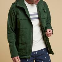 Four Pocket Hooded Jacket Green