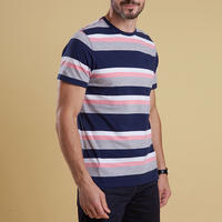 Foundry Wide Stripe T-Shirt Pink