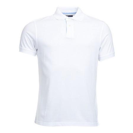 Polka Trim Polo Shirt White