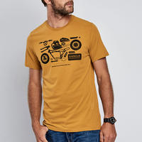 Mechanical Crew Neck T-Shirt Yellow