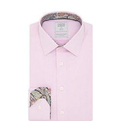 Basketweave Shirt Pink