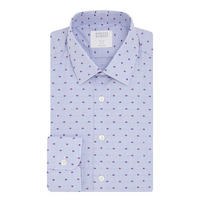 Slim Fit Dot Pattern Shirt Blue