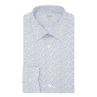 Polka Dot Print Shirt Blue