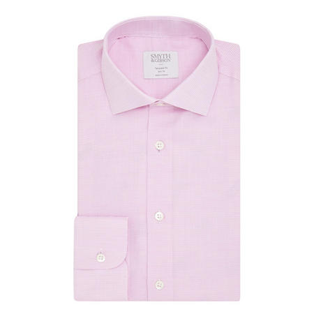 Tailored Fit Micro-Pattern Shirt Pink