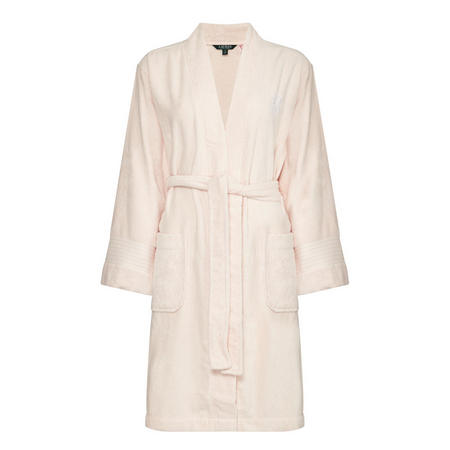 Essential Terry Cloth Robe Pink