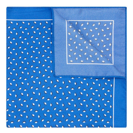 Diamond Print Pocket Square Blue