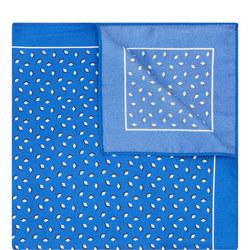 Diamond Print Pocket Square Blue
