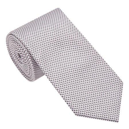 Textured Contemporary Pattern Tie Purple